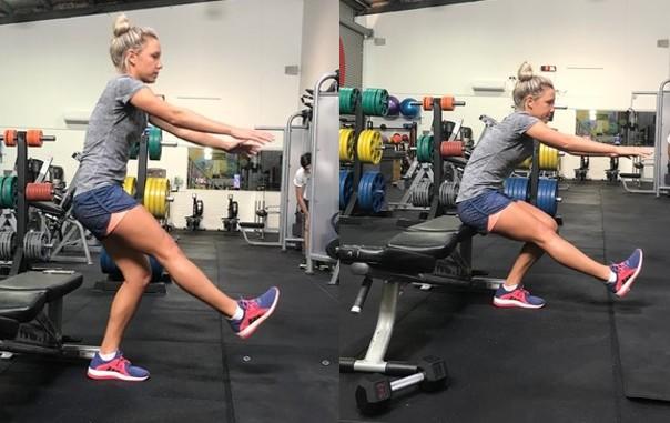 Single leg squats (On a chair)