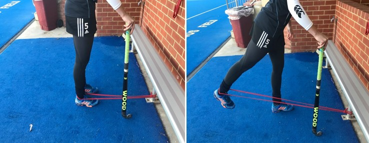 hamstring extension with band