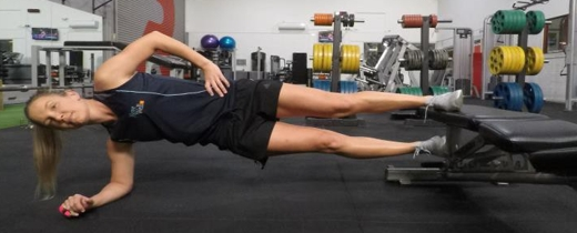 Hip adduction against gravity