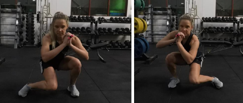 Squatting internal rotations