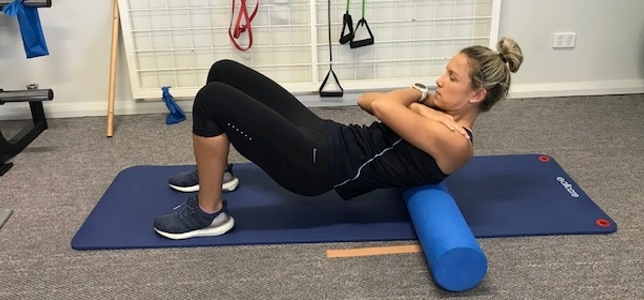 foam rolling thoracic spine
