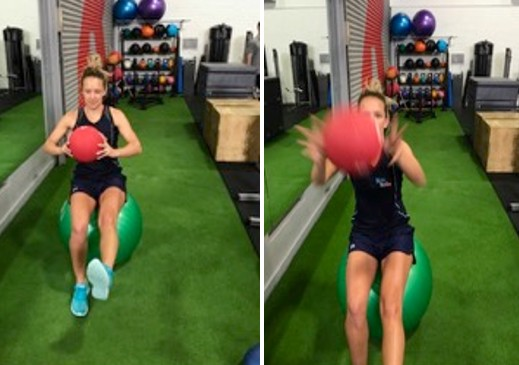 medicine ball catch