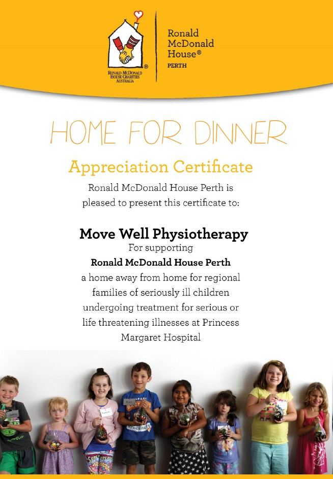 perth physio charity