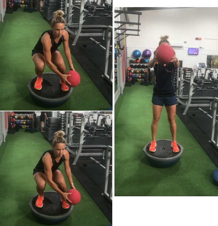 squat ball to opp side