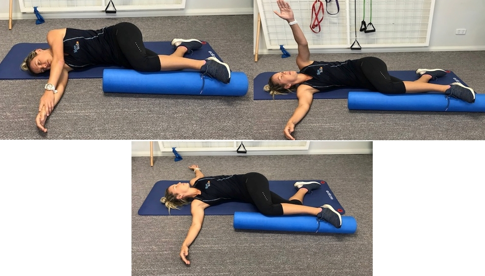thoracic spine rotation with reach